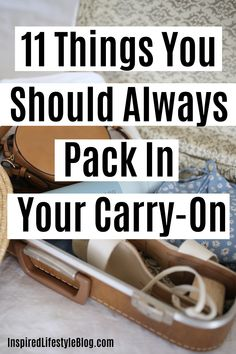 Are you not sure what you need to pack in your carry-on luggage? I'm sharing with you the 11 things you should pack in your carry-on next time you travel! Carry On Packing, Packing Tips For Vacation, Cruise Tips, Carry On Luggage, Travel Packing, Packing Ideas, Traveling Tips, Packing Hacks, Packing Lists