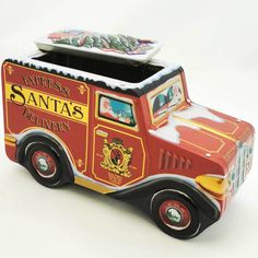 Tins Santa Delivery Truck Tin Christmas Decor Height: 4.75 Inches Material: Metal Type: Christmas Decor Brand: Tins Item Number: Tins 4029944 Catalog ID: 16304 New, No Box. Silver Crane Designs By Ene