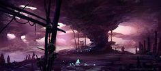 Hunting Cave by on DeviantArt These Broken Stars, Fantasy Art Landscapes, New Fantasy, Fantasy Illustration, Environment Design, Sci Fi Art, Horror Art, Fractal Art, Pixel Art