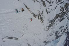 After epic tree runs the extreme snowboarder tackles the North Face of Aiguille du Midi in Chamonix.