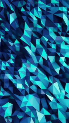 Micro Blue Triangles #iPhoneWallpaper
