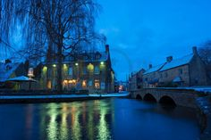 Bourton on the Water - Early winter morning