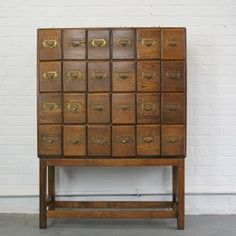Early 20th Century Doctors Oak Filing Drawers - The Hoarde