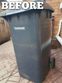 This is the coolest thing you'll see all day! Homeowner updates boring trash can—look at how amazing it looks now! Sponsored pin.