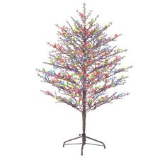 pre lit christmas branch tree indoor outdoor artificial holiday xmas decoration - Outdoor Artificial Christmas Trees