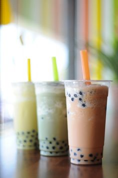 Bubble Tea :)  I love this with tapioca pearls