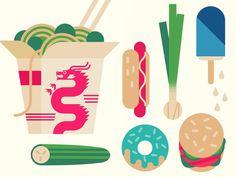 Food #2 by Owen Davey. Illustration