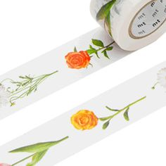 Flowers Washi Masking Tape  Wide MT ex 30mm x by japanese2please, 8.50