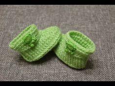 Aprende a tejer botitas para bebé / Tutorial | Crochet y Dos agujas