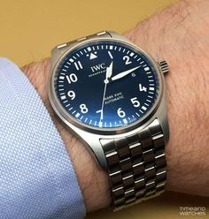Stylish Watches, Luxury Watches For Men, Cool Watches, Iwc Watches, Sport Watches, Iwc Mark Xv, Iwc Chronograph, Iwc Pilot, Dream Watches