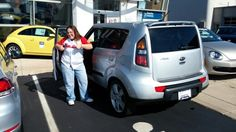 Mary I am so happy you were introduced to me to purchase a car. I really enjoyed working with you and seeing your face in this picture makes it all the better :-)Enjoy your new Kia Soul!  Jay Grosman Www.TalkingCarsWithJay.com Bommarito St Peters