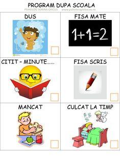 Program dupa scoala - organizator pentru copii - Blog Sorina Chicus - psiholog