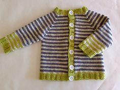 Casaquinho listrado para bebê - tricô