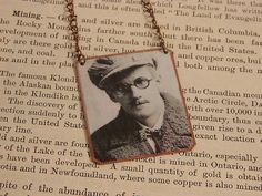 James Joyce necklace mixed media jewelry literature jewelry