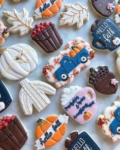 New Cookies Funny 15 Ideas - food: Christmas cookies Thanksgiving Cookies, Fall Cookies, Cute Cookies, Christmas Cookies, Fall Decorated Cookies, Pumpkin Sugar Cookies, Iced Cookies, Thanksgiving Decorations, Fall Treats