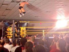 Finn Balor jumps through the ceiling