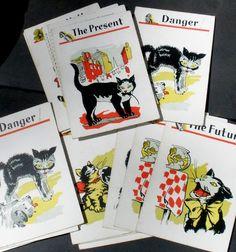 Vintage Black Cat Fortune Telling Cards