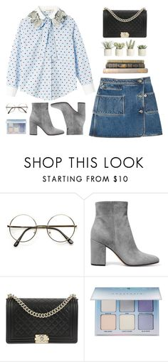 """""""Untitled #1445"""" by timeak ❤ liked on Polyvore featuring Gianvito Rossi, Chanel, Anastasia Beverly Hills and Allstate Floral"""