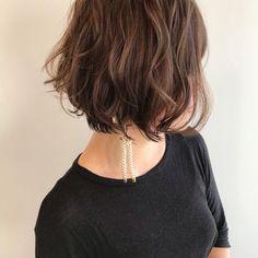 Teen Hairstyles, Permed Hairstyles, Japanese Perm, Cute Haircuts, Aesthetic Fashion, Short Hair Styles, Hair Makeup, Hair Cuts, Bob
