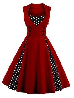 S-5XL Women Robe Pin Up Dress Retro 2017 Vintage 50s 60s Rockabilly Dot Swing Summer female Dresses Elegant Tunic Vestido