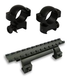 Aluminum Scope Rings  Rail Scope Mount for HK Hk MP5 SP89 PTR91 Rifles for Hk 1st Generation GSG5 GSG5 *** You can find more details by visiting the image link.
