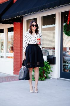 With the holidays right around the corner, my mind immediately goes to holiday parties, get togethers and all around great excuses to dress up in the poufy, the sparkly and the girly. Which brings me...