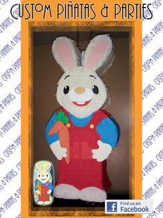 Pinata Modeled After Harry the Bunny `  Baby First TV