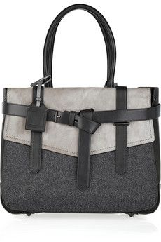 Reed Krakoff | Boxer leather and wool tote | NET-A-PORTER.COM - StyleSays