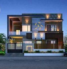 House Outside Design, House Front Design, Cool House Designs, Modern House Design, 2 Storey House Design, Bungalow House Design, House Architecture Styles, Model House Plan, Modern House Facades
