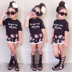KF Model @natalieamora_love Tee from lemotto Gladiators from joyfolie #kidzfashion www.kidzfashion.com.au