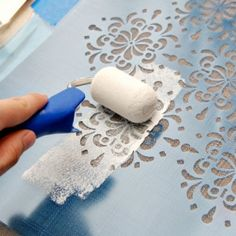 With a pretty stencil and a great paint color, you can transform plain curtains into custom decor in no time!