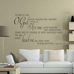 Psalm 139:23-24 Christian wall sticker | Divine Walls