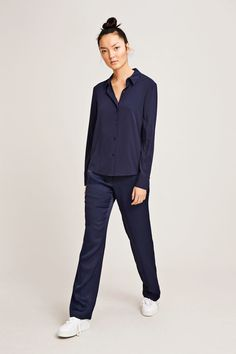 Milly np shirt 9942, DARK SAPPHIRE