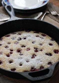 Don't want to stand over the stove making pancakes? Just whip up this easy and delicious oven baked pancake instead! Making Pancakes, How To Make Pancakes, Oven Baked Pancakes, Pastry Brushes, Frozen Blueberries, Oven Racks, Confectioners Sugar, Unsalted Butter, Brunch