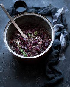 Φακές με παντζάρι Blackberry, Acai Bowl, Fruit, Breakfast, Food, Acai Berry Bowl, Breakfast Cafe, Blackberries, Essen