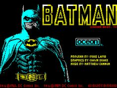 Batman: The Movie (1989) - This was responsible for me turning over the most ludicrously bad piece of homework ever (a story about Robinson Crusoe falling in a volcano, in 7 lines), as this was waiting for me when I got home from school. Based on the first Micheal Keaton Batman movie, this was legendary. Sideways scrolling beat 'em up, driving, flying the batwing, ding dong, it had it all! Quite easy to complete, but played again all the same.