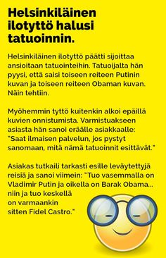helsinkilainen_ilotytto_halusi_tatuoinnin_2 Arduino, Mirrored Sunglasses, Jokes, Lol, Humor, Comics, Funny, Random, Husky Jokes