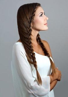 new hairstyles and hair trends just waiting to be experimented with Plus Size Hairstyles, Latest Hairstyles, Braided Hairstyles, Hair Styles 2014, Long Hair Styles, Aqua Hair, Hair Magazine, Beautiful Braids, Wild Hair
