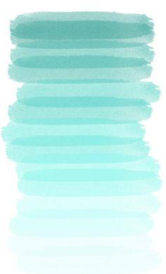 Aqua gradient brush strokes