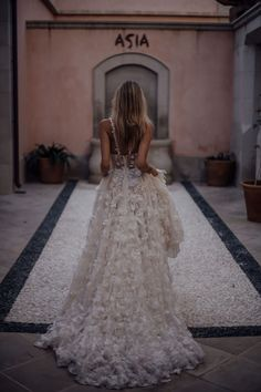 Wedding Dresses: Illustration Description Live your wedding dream – our wedding gown will make your dreams come true with its embroidered tulle adorned with floral embellishments. Photo: by Tali Photography Perfect Wedding Dress, Dream Wedding Dresses, Bridal Dresses, Wedding Gowns, Wedding Bells, Boho Wedding, Wedding Day, Wedding Ceremony, Elegant Wedding