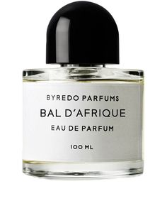 "7 June 2014 - Byredo Parfums, Bal d'Afrique - ""My favourite perfume – Byredo's Bal D'Afrique is a fresh and uplifting fragrance that feels unique and luxurious when you wear it."" Sarah Satherley, Social Media Co-ordinator"