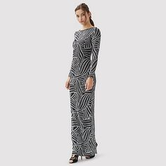 Jane Norman Silver lurex long sleeve dress | Debenhams £59