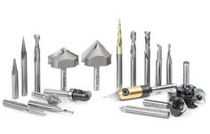 AMS-132 18-Pc Signmaking Advanced CNC Router Bit Collection, 1/4 Inch Shank 18-Pc Signmaking Advanced CNC Router Bit Collection The ultimate set for signmakers. Designed for creating signs and other C