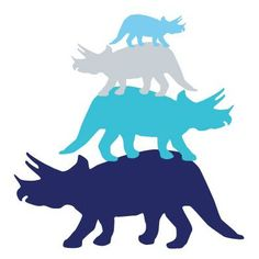 """Avalisa Animals Tri Tower Stretched Canvas Art Color: Blue Hue, Size: 44"""" x 44"""""""
