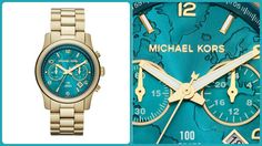 Michael Kors Turquoise Gold Watch. Yes please. LOVVVVVVE