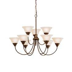 Kitchler - Telford Collection - 2 Story Foyer Chandelier in Olde Bronze - Group 1