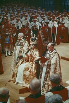 Queen Elizabeth II at her coronation ceremony in Westminster Abbey, London. Get premium, high resolution news photos at Getty Images Queen Mary, Queen Elizabeth Ii, Queen's Coronation, British Royal Families, English Royalty, Queen Of England, British Monarchy, Westminster Abbey, Save The Queen
