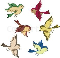 Bird Illustrations and Clip Art. Bird royalty free illustrations, drawings and graphics available to search from thousands of vector EPS clipart producers. Cartoon Bird Drawing, Flying Bird Drawing, Fly Drawing, Bird Drawings, Cartoon Drawings, Vogel Clipart, Bird Clipart, Cartoon Trees, Cartoon Birds