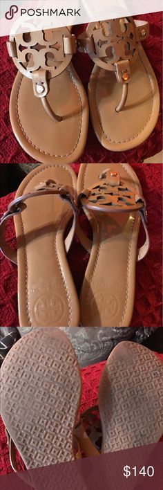 Tory Burch Millers Used Tory Burch Millers in the sand patent color. Yes they are used but still have plenty of life no scuffs but they have been used as shown on the last picture. Please make sure to look at all the pictures before making an offer. Summer is here we need sandals!!!☀️ Tory Burch Shoes Sandals