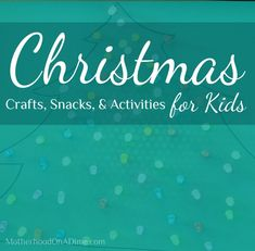 Tons of simple Christmas Crafts, Snacks, & Activities for Kids Preschool Christmas Crafts, Christmas Activities For Kids, Winter Activities, Holiday Crafts, Holiday Fun, Kids Crafts, Preschool Activities, Simple Christmas, Christmas And New Year